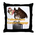 Carrion Luggage Throw Pillow