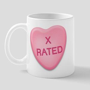 X Rated Candy Heart Mug