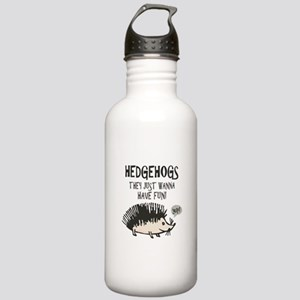 Hedgehog - Funny Saying Stainless Water Bottle 1.0