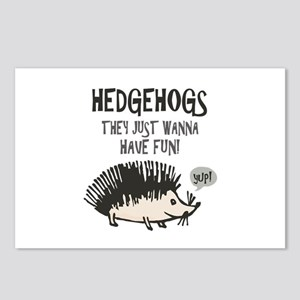 Hedgehog - Funny Saying Postcards (Package of 8)