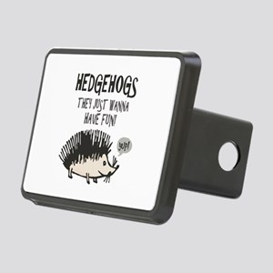 Hedgehog - Funny Saying Rectangular Hitch Cover