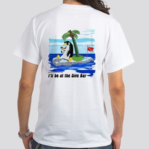 Penguin Dive Bar (BK) White T-Shirt