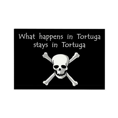 What happens in Tortuga Rectangle Magnet