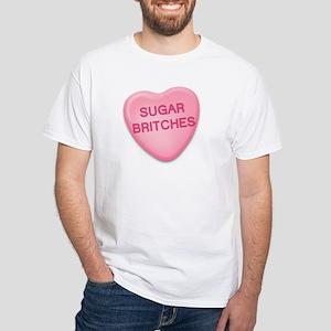 sugar britches Candy Heart White T-Shirt