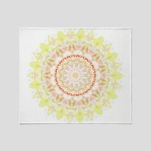 Sun Fire mandala kaleidoscope Throw Blanket