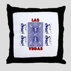 Las Vegas Joker Poker Throw Pillow