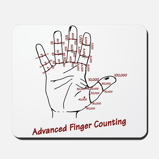 Advanced Finger Counting Mousepad