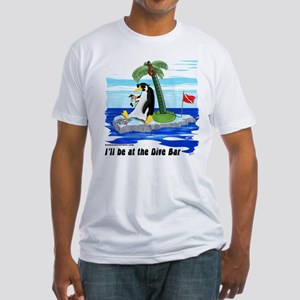 Penguin Dive Bar Fitted T-Shirt