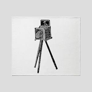 Vintage Camera Throw Blanket