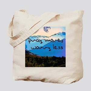 pray more worry less - sketch Tote Bag