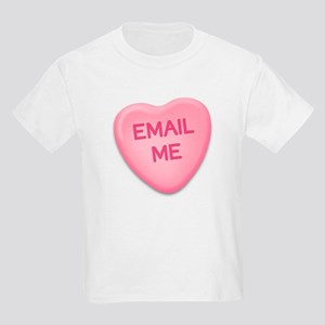 Email Me Candy Heart Kids T-Shirt