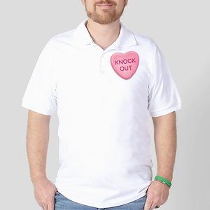 knockout Candy Heart Golf Shirt