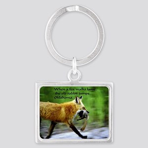 Limping Fox Landscape Keychain