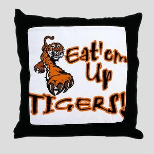 Eat'em Up Tigers Throw Pillow