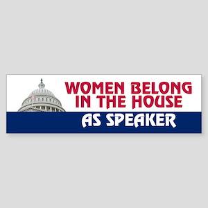 WOMEN BELONG Bumper Sticker