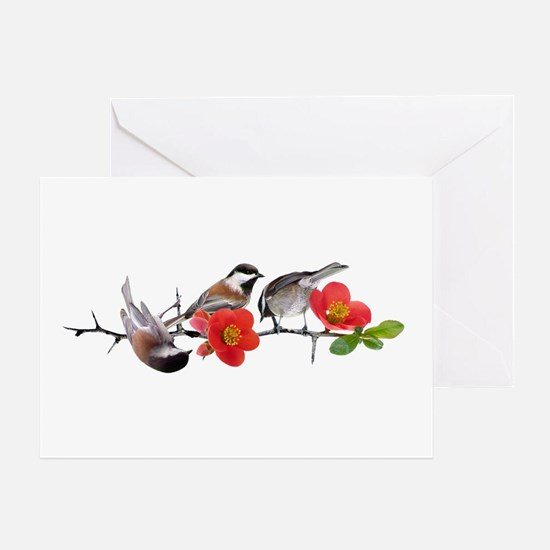 Quince Birds Greeting Card