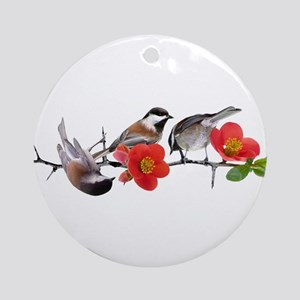 Quince Birds Ornament (Round)