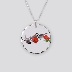 Quince Birds Necklace Circle Charm
