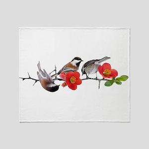 Quince Birds Throw Blanket