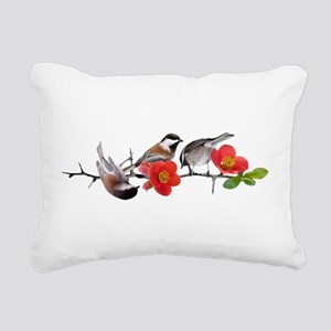 Quince Birds Rectangular Canvas Pillow