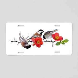 Quince Birds Aluminum License Plate