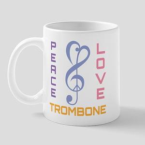 Peace Love Trombone Music Mug