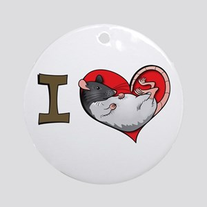 I heart rats (hooded) Ornament (Round)