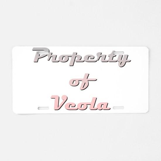 Property Of Veola Female Aluminum License Plate