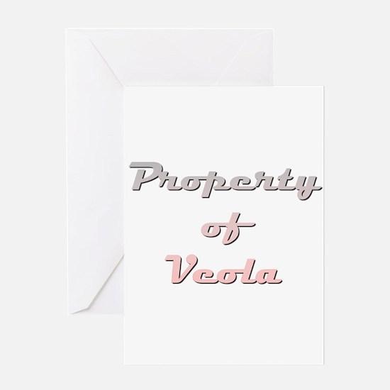Property Of Veola Female Greeting Cards