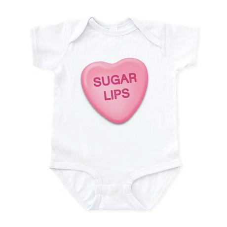 Sugar Lips Candy Heart Infant Bodysuit