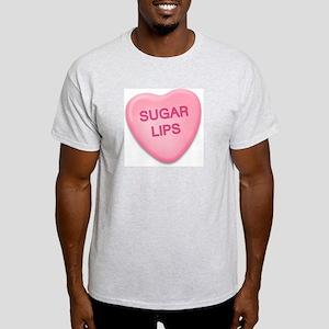 Sugar Lips Candy Heart Ash Grey T-Shirt