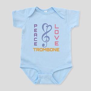 Peace Love Trombone Music Infant Bodysuit