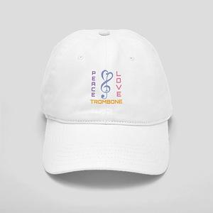 Peace Love Trombone Music Cap