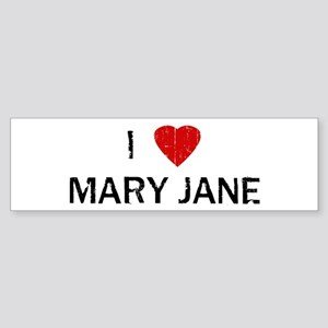 I Heart MARY JANE (Vintage) Bumper Sticker