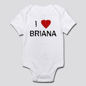 I Heart BRIANA (Vintage) Infant Bodysuit
