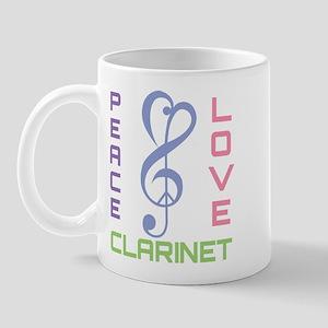 Peace Love Clarinet Music Mug