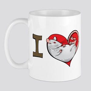 I heart rats (albino and hooded) Mug