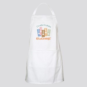 Retro Rather Play Euchre BBQ Apron