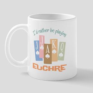 Retro Rather Play Euchre Mug
