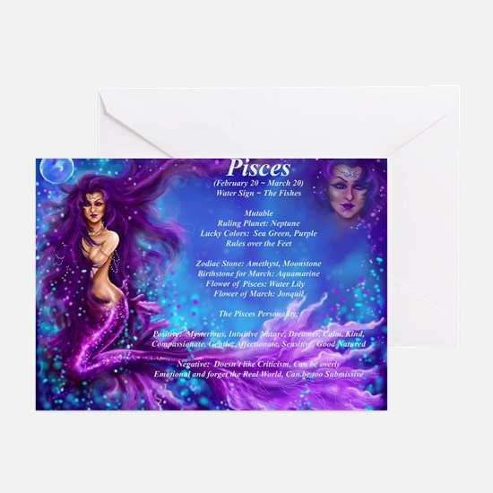 Goddess Pisces Greeting Cards (6)