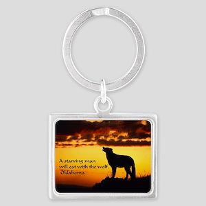 Wolves Landscape Keychain