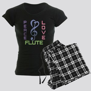 Peace Love Flute Music Women's Dark Pajamas