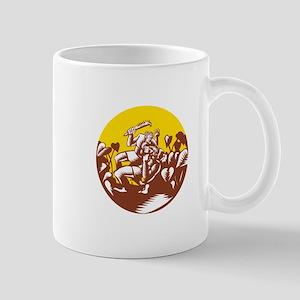 Losi Defeating God Circle Woodcut Mugs