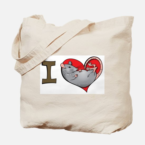 I heart rats (grey) Tote Bag