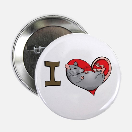 I heart rats (grey) Button