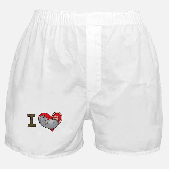 I heart rats (grey) Boxer Shorts