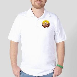 Losi Defeating God Circle Woodcut Golf Shirt