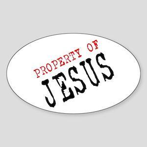 Property of Jesus Oval Sticker