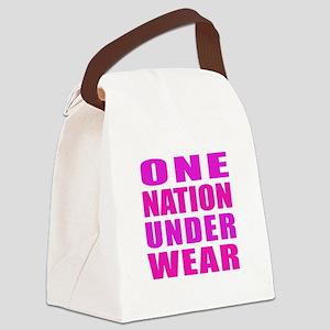 Under Wear Canvas Lunch Bag