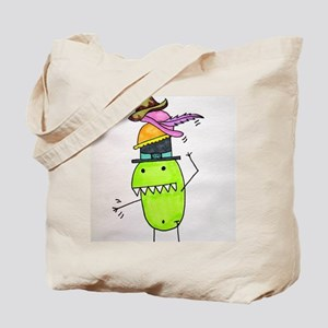 Pea Monster's Hats Tote Bag